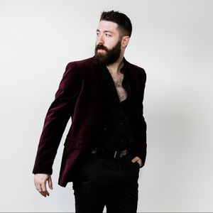 Men's Slim Fit Velvet Suit Jacket